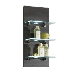 Wandregal Marano mit Glasböden hacienda-anthrazit
