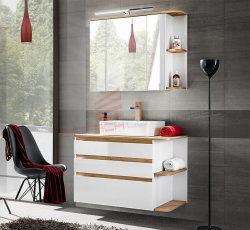 Badezimmer SET 2-tlg. PLATINUM 94cm | Waschplatz &...