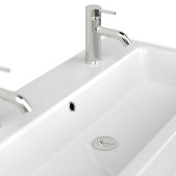 Badezimmer Waschplatz LIVONO 100cm inklusive Waschbecken    weiß-hochglanz