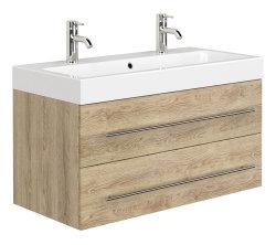 Badezimmer Waschplatz LIVONO 100cm inklusive Waschbecken...