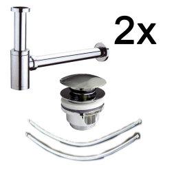 Badezimmer Doppel-Waschplatz Abfluss 6-tlg Spar-Set |...