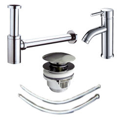 Badezimmer Waschplatz Armatur & Abfluss | komplettes...