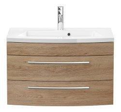 Waschplatz Rima 80cm mit 2 Schubladen | inkl. Waschbecken...