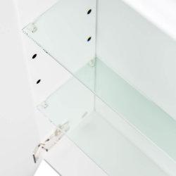 Spiegelschrank CALLEGOS 75cm 3-türig | mit LED-Leiste | weiss-hochglanz