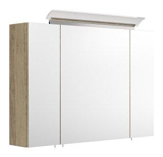 Spiegelschrank CALLEGOS 90cm 3-türig | mit LED-Leiste | sonoma-eiche