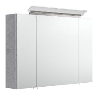 Spiegelschrank CALLEGOS 90cm 3-türig | mit LED-Leiste | beton-Optik