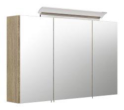 Spiegelschrank CALLEGOS 100cm 3-türig | mit LED-Leiste | sonoma-eiche