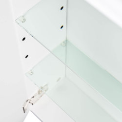 Spiegelschrank CALLEGOS 120cm 3-türig | mit LED-Leiste | weiss-hochglanz