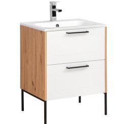 Badezimmer Waschplatz MADERA 60cm inkl. Waschbecken |...