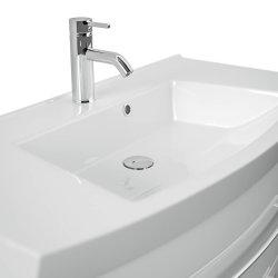 Badmöbel LUNA | 100cm Waschplatz mit Waschbecken | weiss-hochglanz