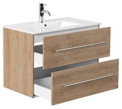 Waschplatz KUBOA 80cm breit | 2 Schubfächer +...