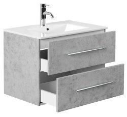 Waschplatz KUBOA 70cm breit | 2 Schubfächer +...