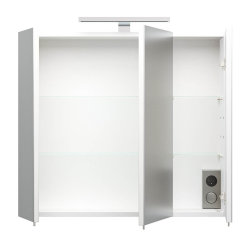Badezimmer Spiegelschrank 3-türig Salona 70cm | mit LED-Lichtleiste | weiß