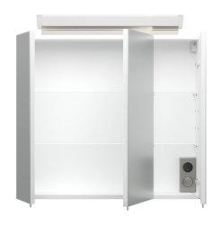 Badset KUBOA 4-teilig 70cm breit | Waschplatz, Spiegelschrank & 2x Hochschrank | anthrazit-glanz