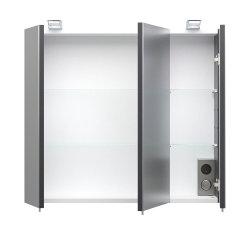 Spiegelschrank Salona 70cm | mit LED-Beleuchtung anthrazit