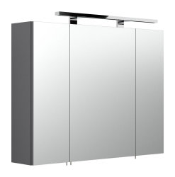 Badmöbel Rima Badset 3-teilig   Waschplatz 80cm + Spiegelschrank   anthrazit