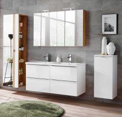 Badezimmer SET CAPRI 120cm 4-tlg.  | Doppelwaschbecken,...