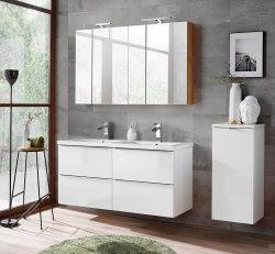 Badezimmer SET CAPRI 120cm 3-tlg.  | Doppelwaschbecken,...