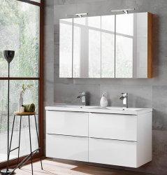 Badezimmer SET CAPRI 120cm 2-tlg.  | Doppelwaschbecken...