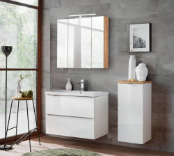 Badezimmer SET II CAPRI 80cm 3-tlg.  | Einbauwaschbecken,...