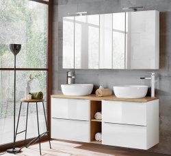 Badezimmer SET CAPRI 140cm 2-tlg.  | Aufsatz-Waschbecken...