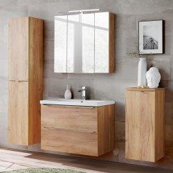 Badezimmer SET CAPRI 80cm 4-tlg.  | Waschbecken, 2x Hoch-...