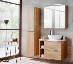 Badezimmer SET II CAPRI 80cm 3-tlg.  | Aufsatz-Becken,...