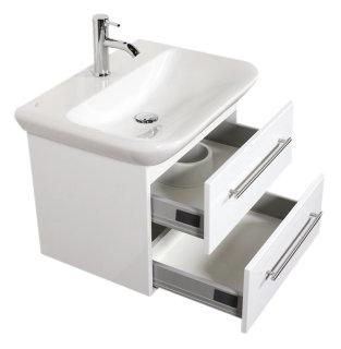 Waschplatz MyDay 65cm mit Geberit Waschbecken | weiß-hochglanz