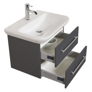 Waschplatz MyDay 65cm mit Geberit Waschbecken | anthrazit-seidenglanz