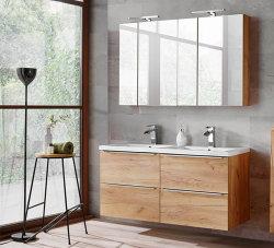 Badezimmer SET CAPRI 120cm 2-tlg.  | Waschtisch &...