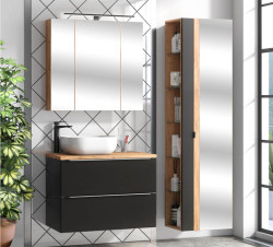 Badezimmer SET II CAPRI 80cm 3-tlg.  | Waschtisch, Hoch...