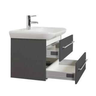 Waschplatz MyDay 80cm mit Geberit Waschbecken | anthrazit-seidenglanz