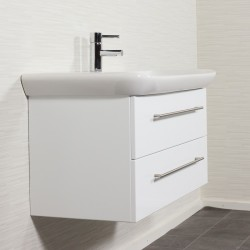 Waschplatz MyDay 100cm mit Geberit Waschbecken | weiß-hochglanz