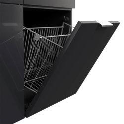 Schuhschrank FAVIER XL 105cm   mit 4 Klappen für 16 Paar Schuhe   graphit-grau