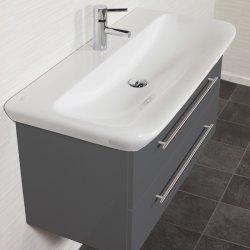 Waschplatz MyDay 100cm mit Geberit Waschbecken | anthrazit-seidenglanz