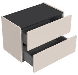 Hängekonsole FAVIER M 60cm | grifflos - Push-To-Open...