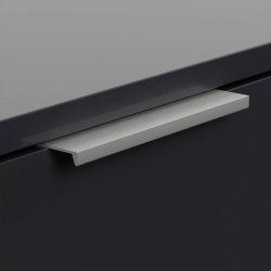 Hängekonsole FAVIER M 60cm | mit 2 Softclose Schubladen | graphit-grau