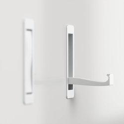 Garderoben-Panel FAVIER 188cm hoch | 3 Klapphaken und Garderobenstange | weiß-hochglanz