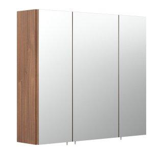 Badezimmer Spiegelschrank 3-türig | 68cm breit walnuss