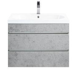 Badmöbel Waschtisch BINZENT 70cm | mit Aqua-Protection | beton-grau