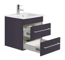 Waschplatz Villeroy & Boch Venticello 50cm anthrazit seidenglanz