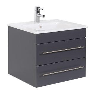 Waschplatz Villeroy & Boch Venticello 60 cm anthrazit seidenglanz