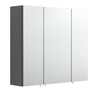 Badezimmer Spiegelschrank 3-türig | 68cm breit anthrazit
