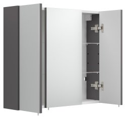 Badezimmer Spiegelschrank 3-türig | 68cm breit...