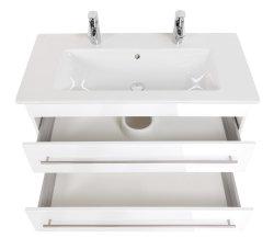Doppel-Waschplatz Villeroy & Boch Venticello 100cm weiß hochglanz