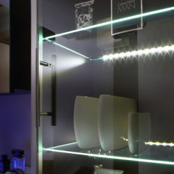 Glasboden-Beleuchtung passend zu Badezimmer Art. 5614, 5814, 5815 - 2er-Set