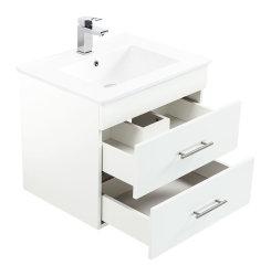 Badmöbel Waschplatz 60cm | Silvanus 600 weiss matt