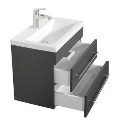 Badmöbel Waschplatz 60cm Breite | Portus 600 SlimLine anthrazit seidenglanz
