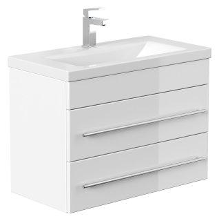 Badmöbel Waschplatz 70cm Breite   Portus 700 SlimLine weiß hochglanz