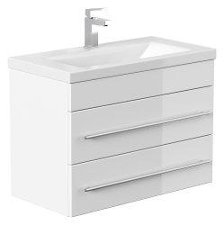 Badmöbel Waschplatz 70cm Breite | Portus 700 SlimLine weiß hochglanz